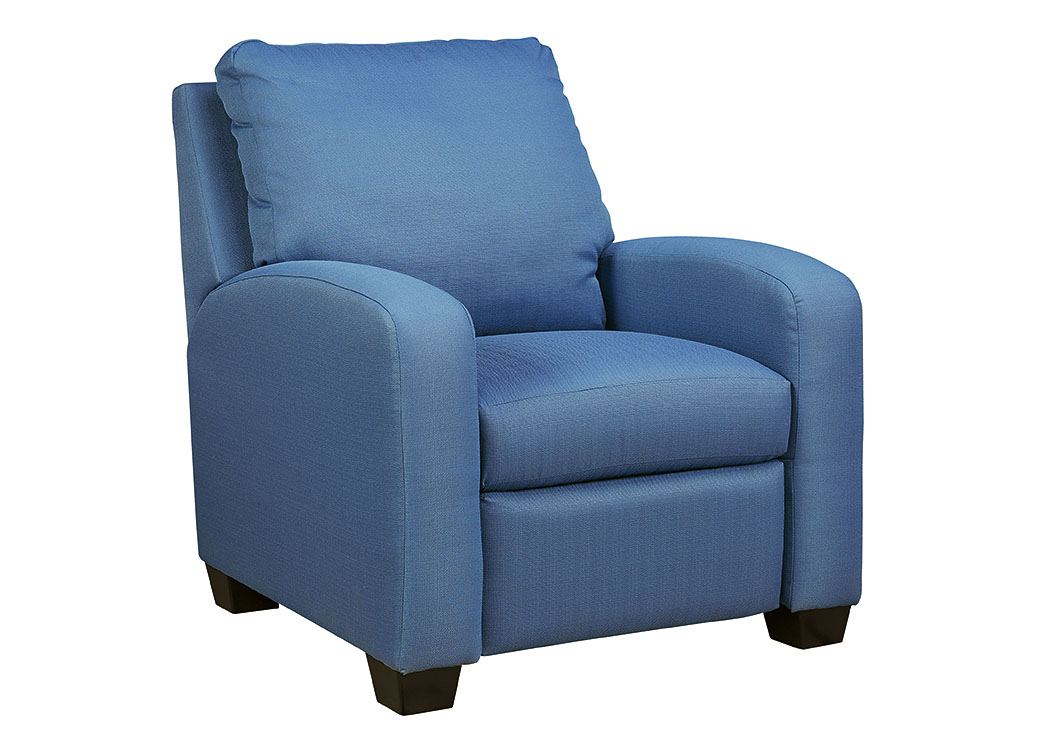 American Furniture Design Ayanna Nuvella Blue Low Leg Recliner