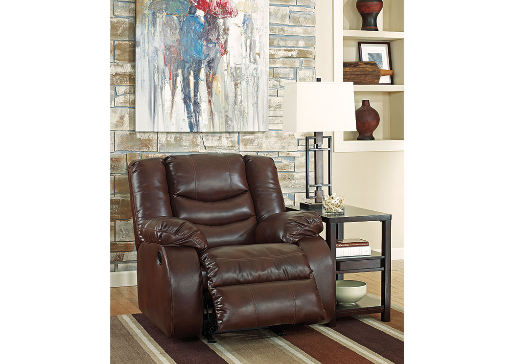 Linebacker DuraBlend Espresso Rocker Recliner,Signature Design By Ashley