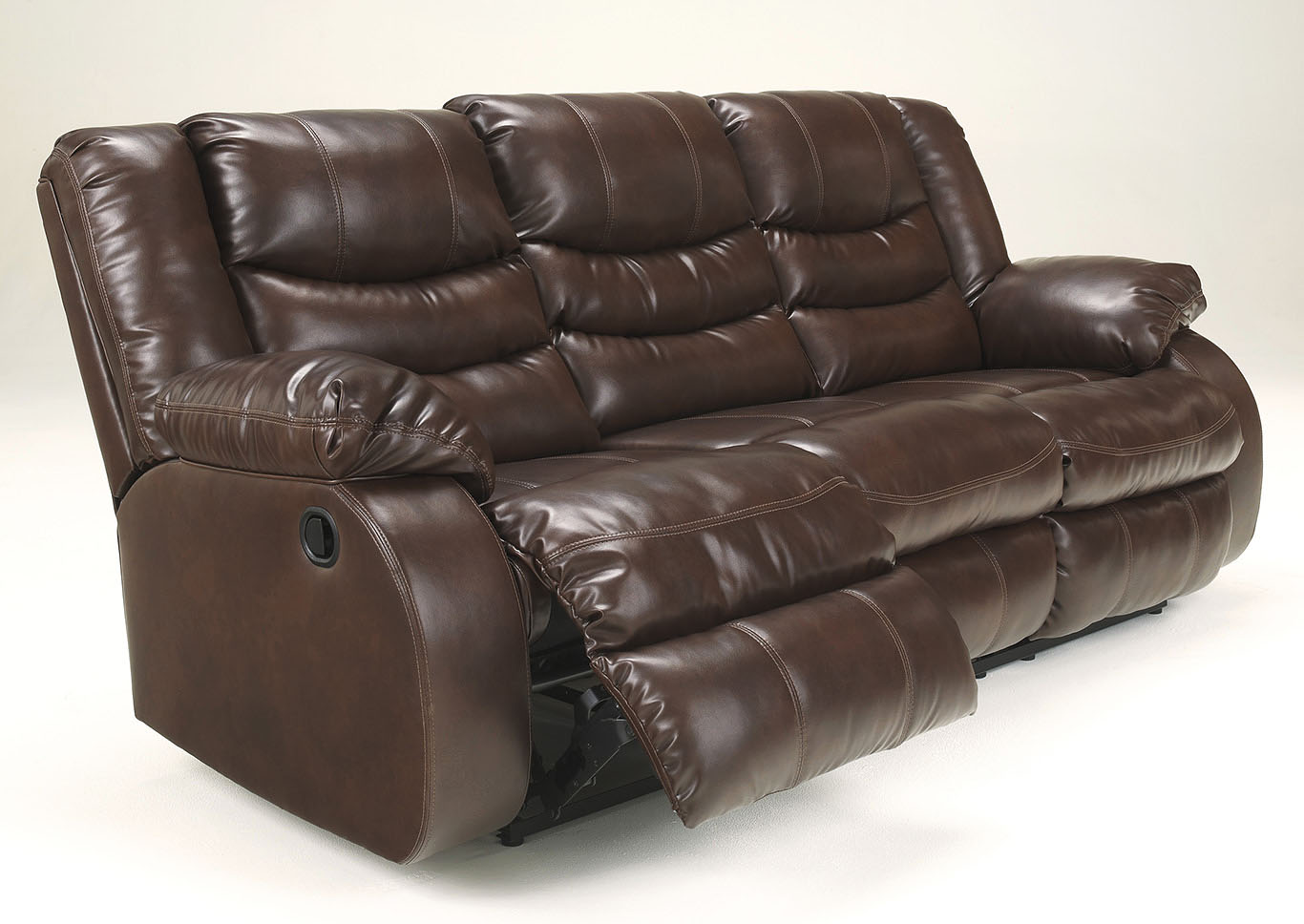 Linebacker DuraBlend Espresso Reclining Sofa,Signature Design by Ashley
