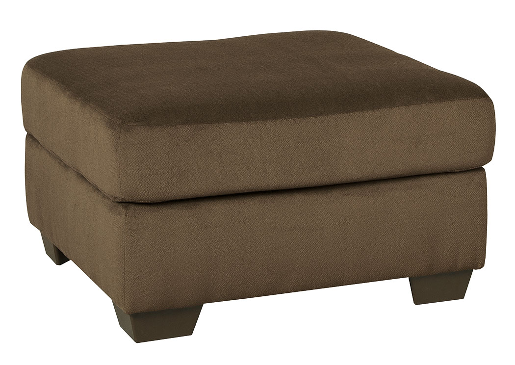 Dailey Chocolate Oversized Accent Ottoman,Signature Design By Ashley
