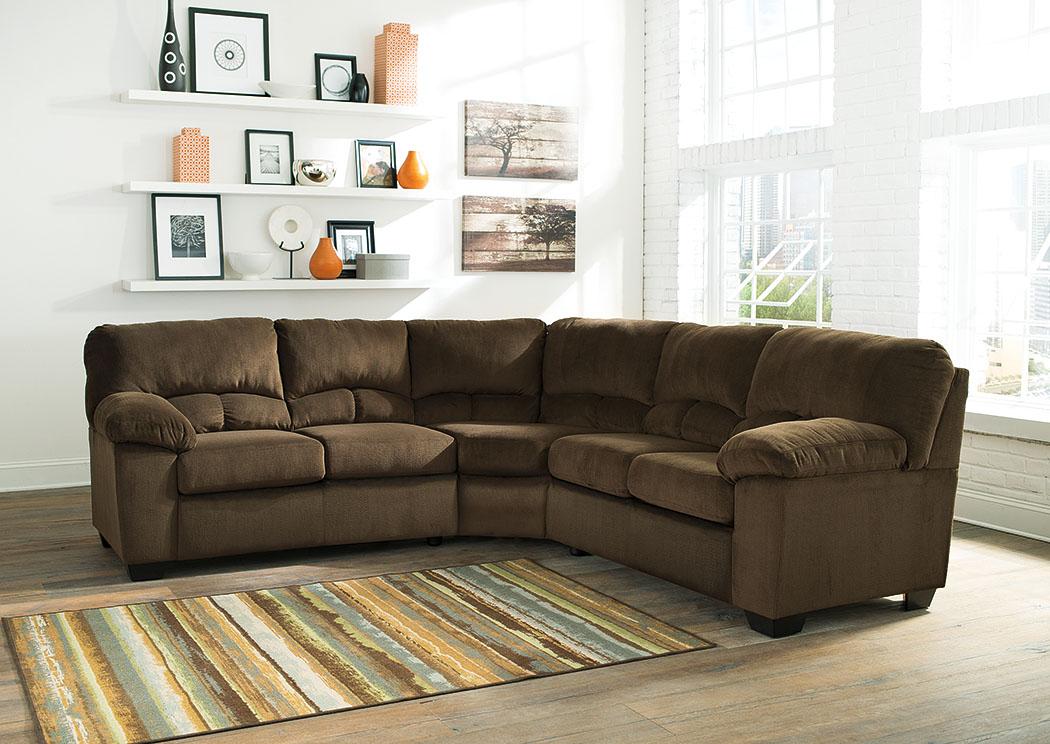 Dailey Chocolate Sectional,Signature Design by Ashley