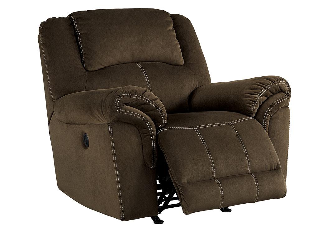 Compass Furniture Quinnlyn Coffee Power Rocker Recliner