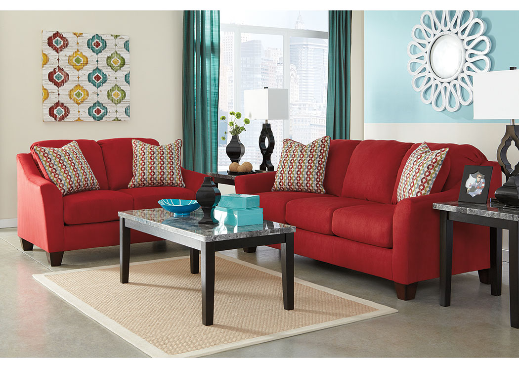 Hannin Spice Sofa & Loveseat,Signature Design by Ashley