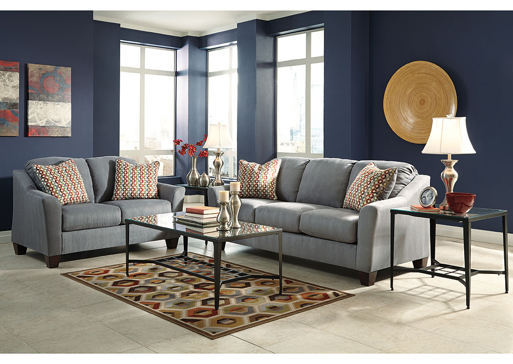 Hannin Lagoon Sofa & Loveseat,Signature Design By Ashley