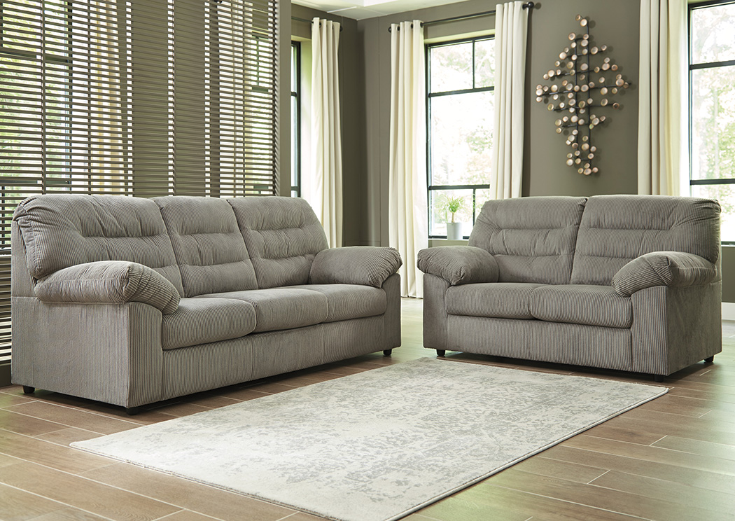 Gosnell Gray Sofa & Loveseat,Signature Design By Ashley