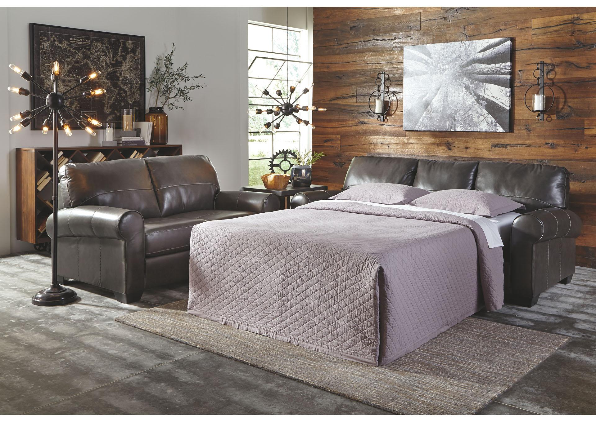 American Furniture Galleries Canterelli Gunmetal Queen Sofa Sleeper