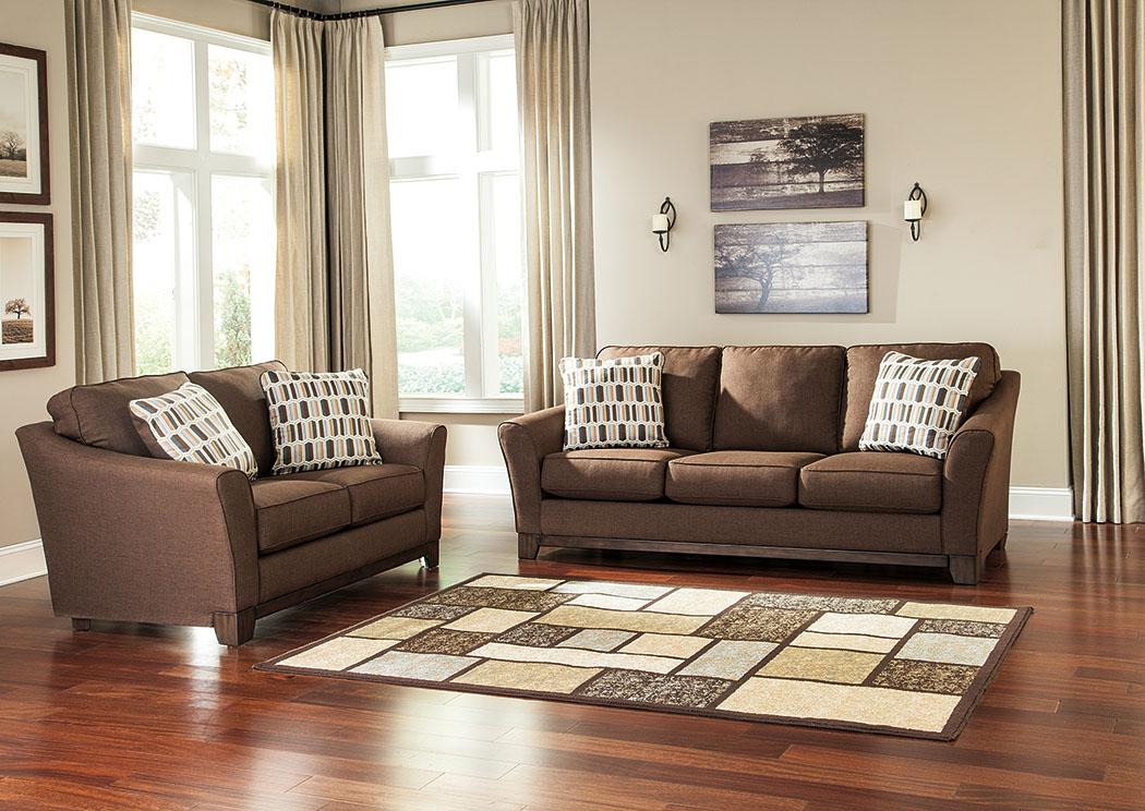 Alara Chocolate Sofa And Loveseat,Signature Design By Ashley