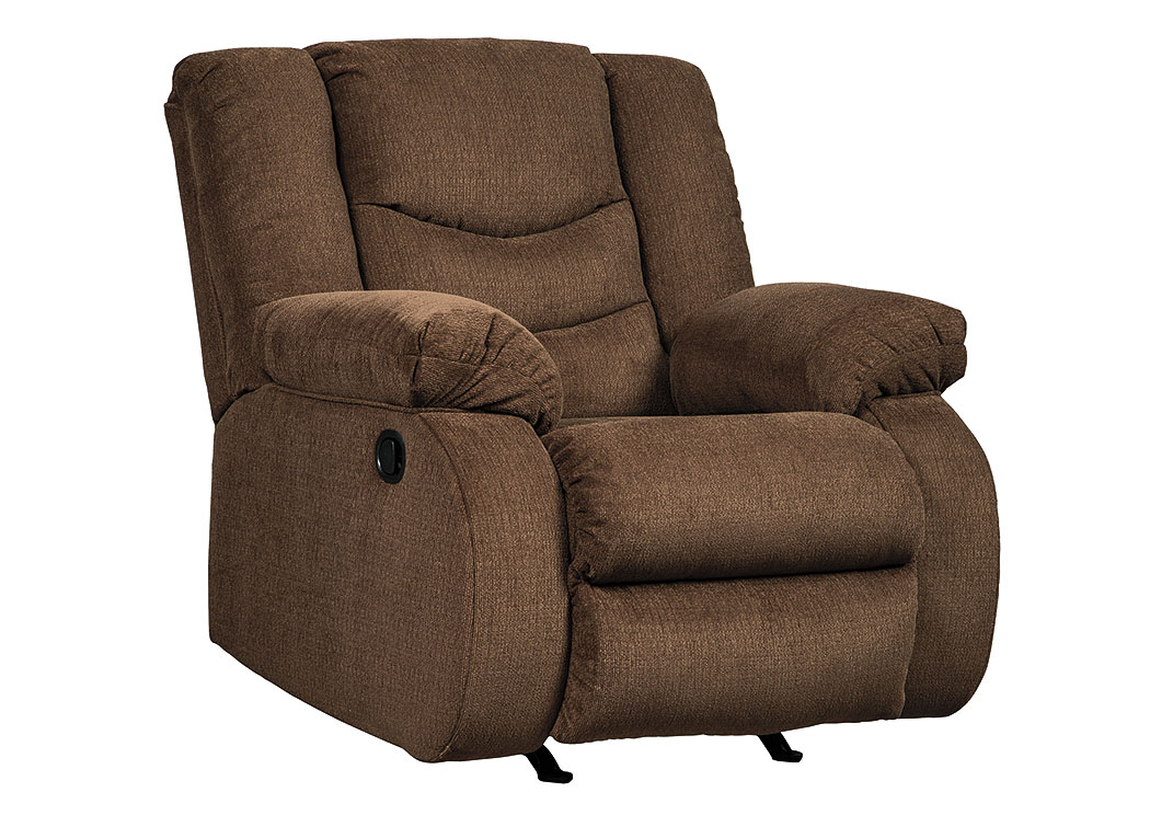 Affordable furniture houston tulen chocolate rocker recliner for Affordable furniture orange tx