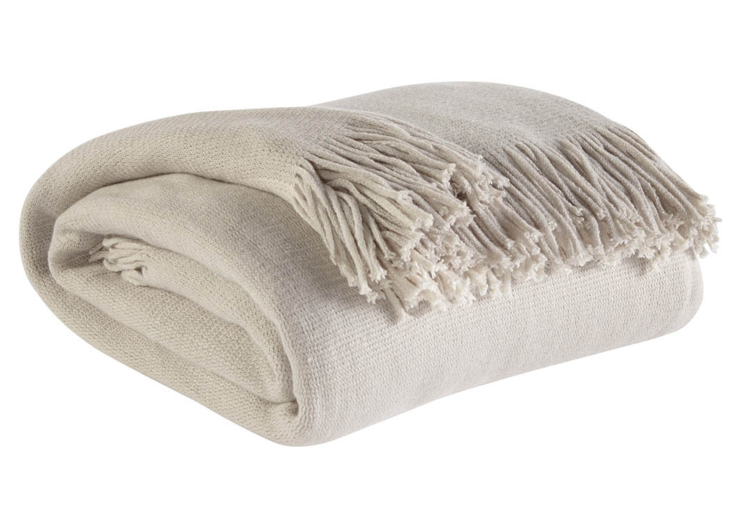 Haiden Ivory/Taupe Throw,Signature Design by Ashley