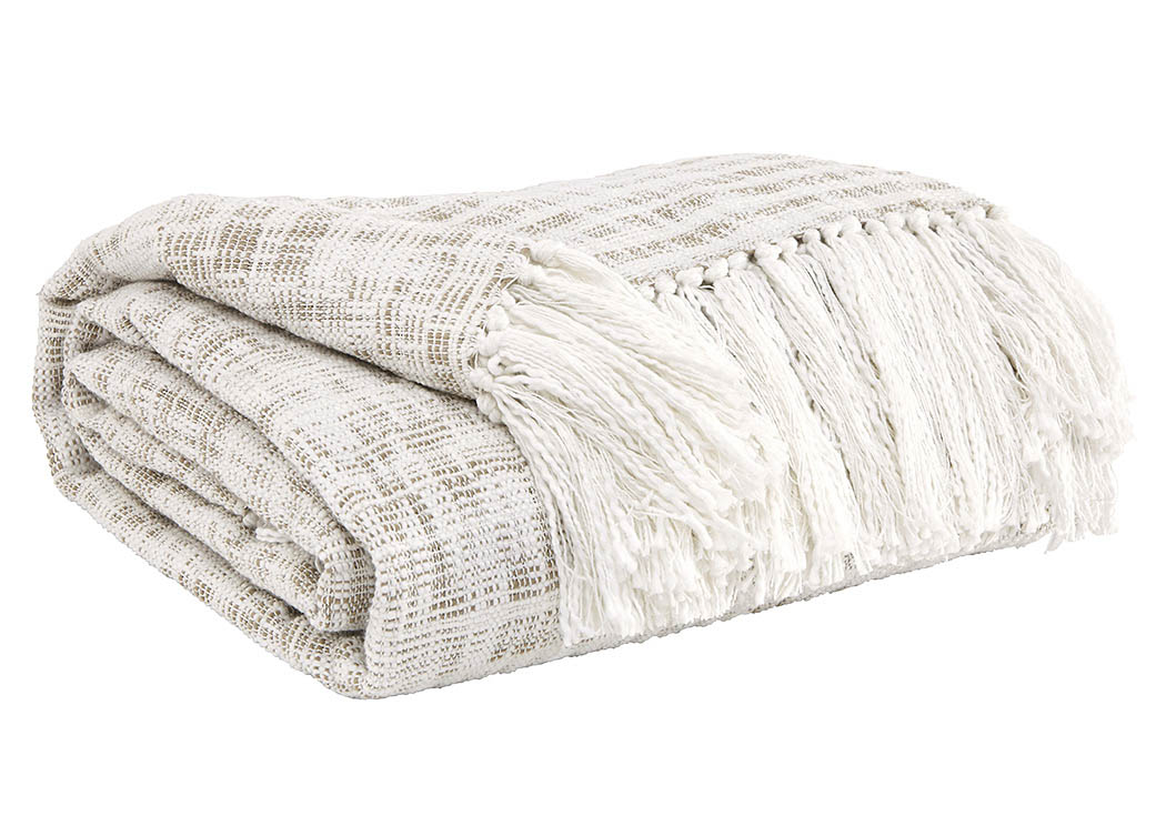 Cassbab Beige Throw,Signature Design by Ashley