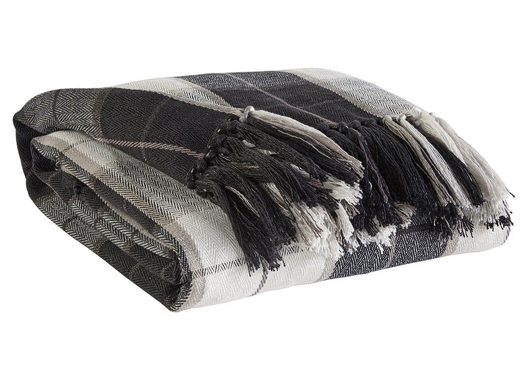 Raylan Black Throw,Signature Design by Ashley