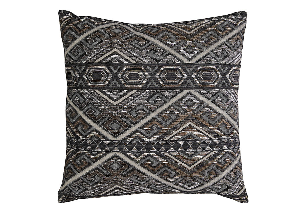 Erata Gray/Brown Pillow (4/CS),Signature Design By Ashley