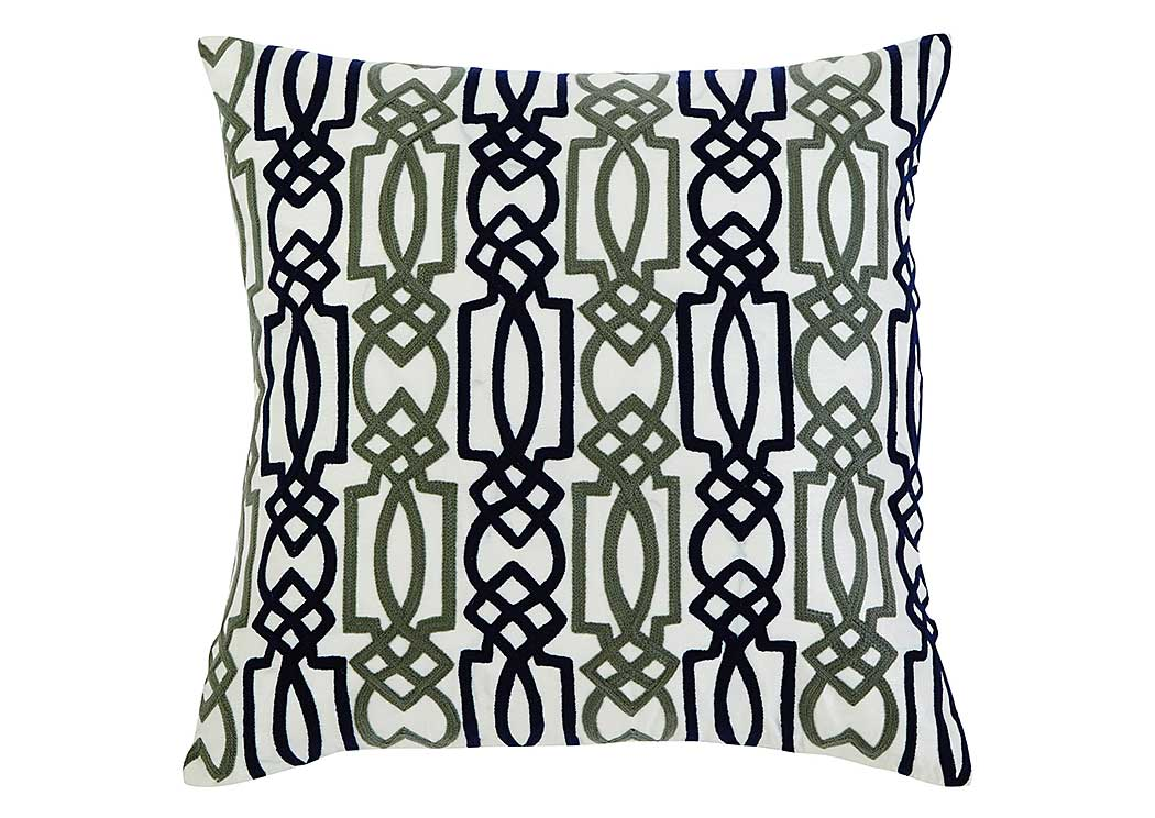 Embroidered Navy Pillow,Signature Design by Ashley