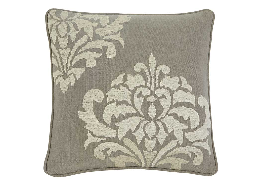 Damask Gray Pillow Cover,Signature Design By Ashley