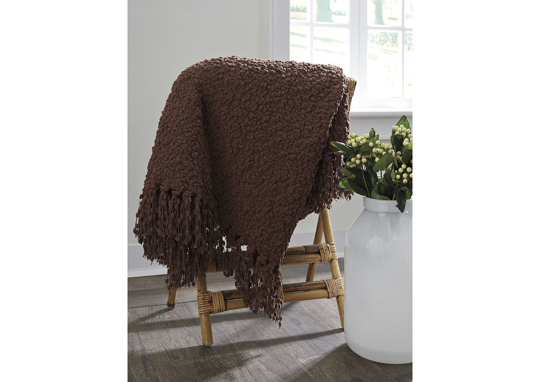 Araminta Brown Throw (3/CS),Signature Design By Ashley