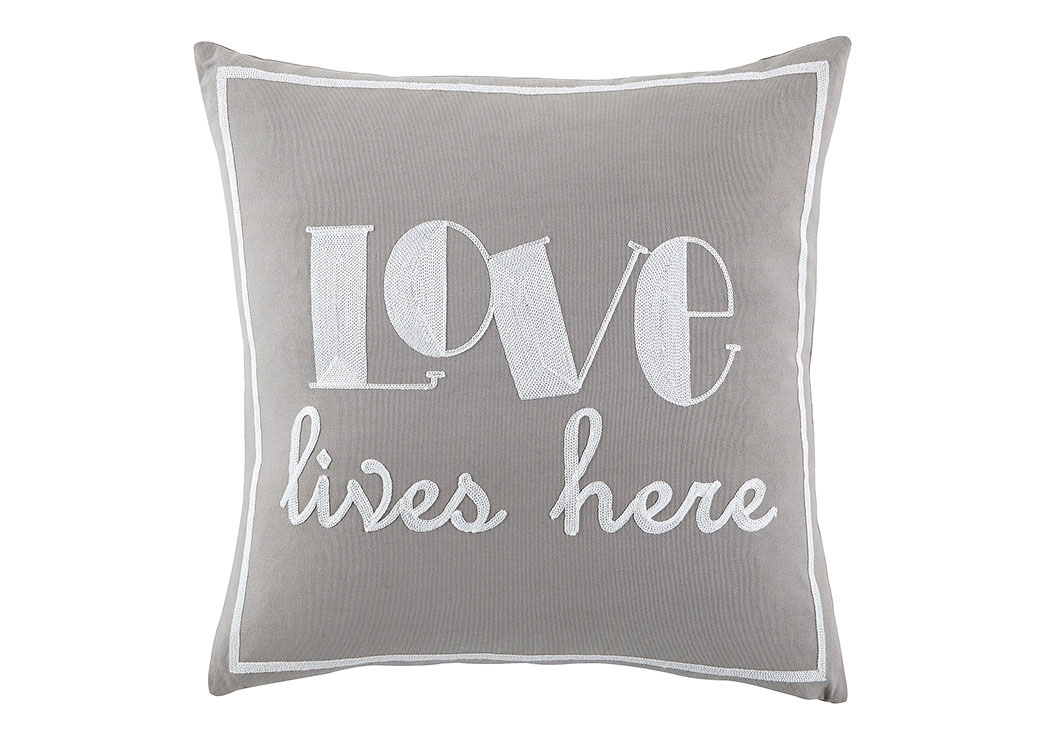 Love Gray Pillow,Signature Design by Ashley
