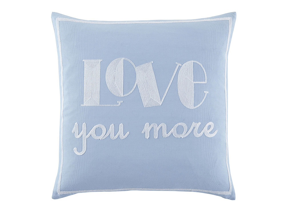 Love You More Light Blue Pillow,Signature Design by Ashley