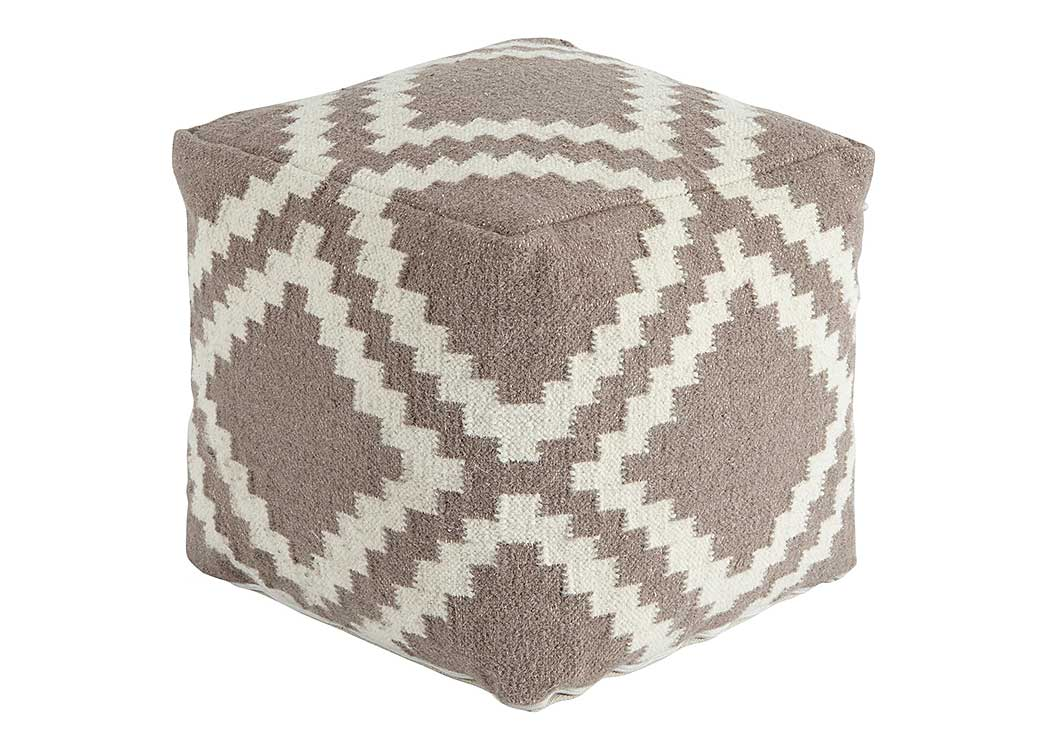 Geometric Gray Pouf,Signature Design by Ashley