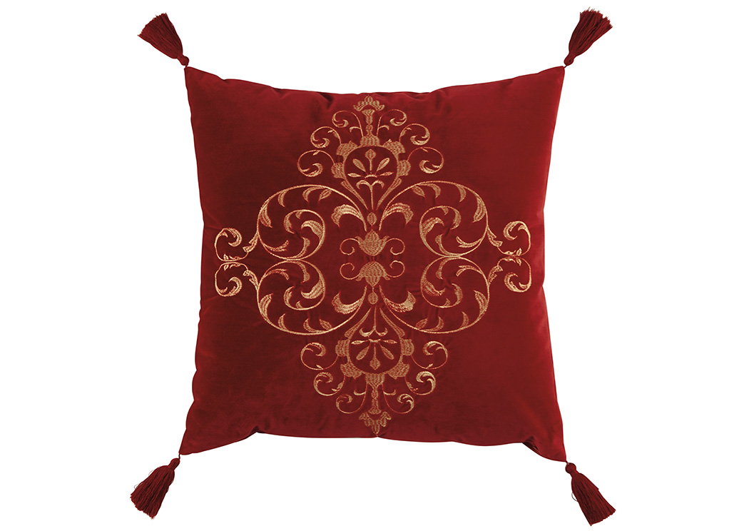 Amiela Scarlet Pillow,Signature Design By Ashley