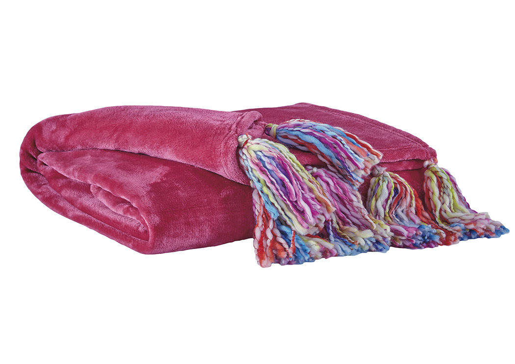 Alexa Pink Throw (Set of 3),Signature Design By Ashley