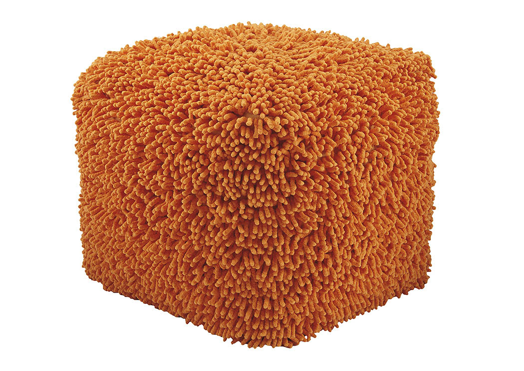 Taisce Orange Pouf,Signature Design By Ashley