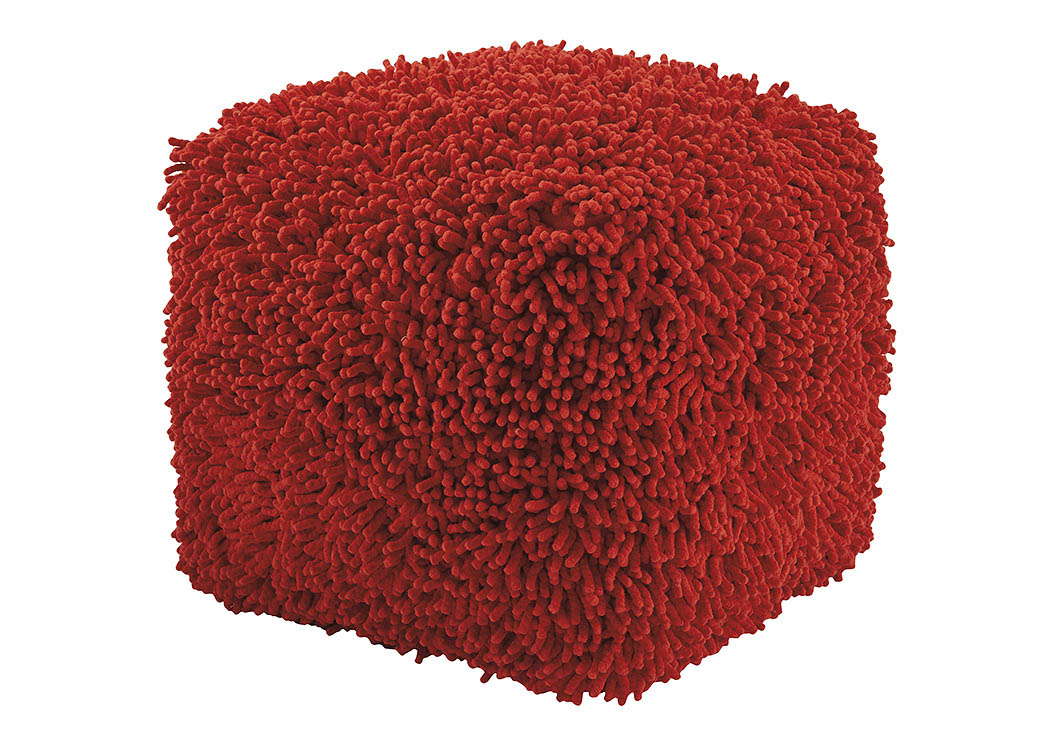 Taisce Red Pouf,ABF Signature Design by Ashley