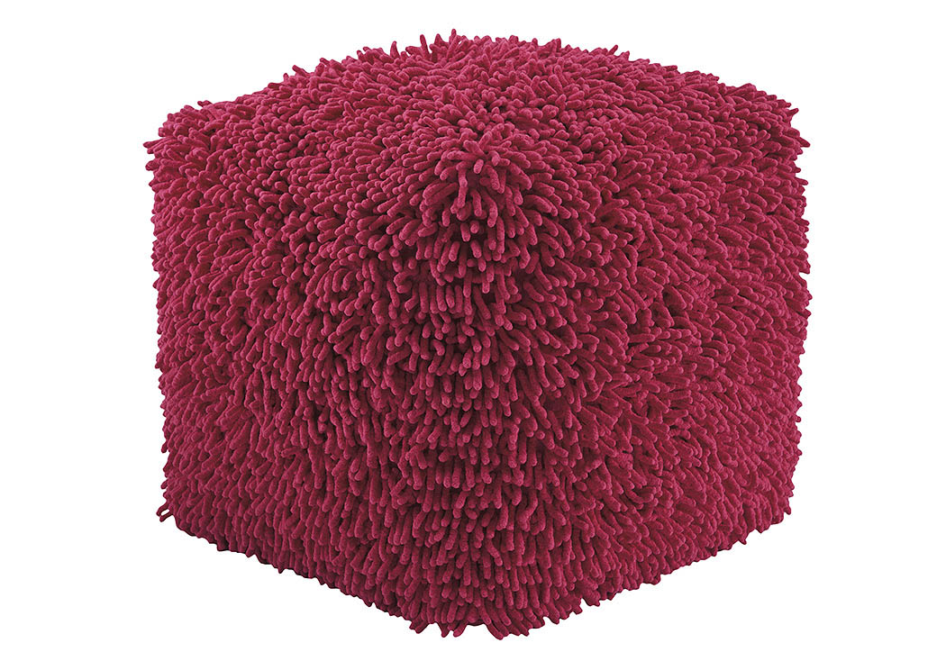 Taisce Fuchsia Pouf,Signature Design by Ashley