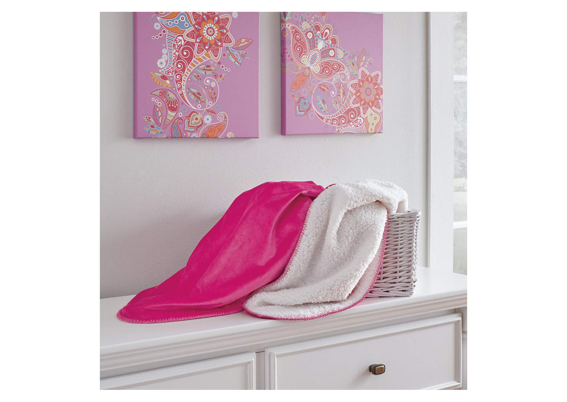 Romeo Pink Throw,Signature Design By Ashley