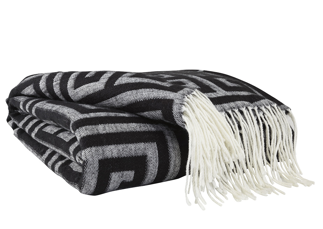 Anitra Black/Gray Throw,Signature Design By Ashley