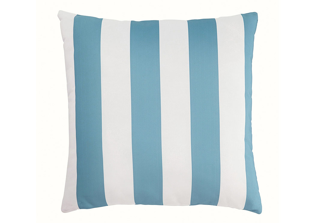 Hutto Aqua/White Pillow,48 Hour Quick Ship