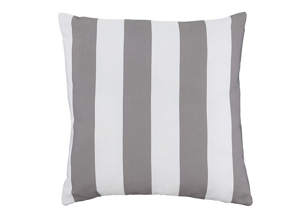 Barbara Jeans Furniture Hutto Gray White Pillow