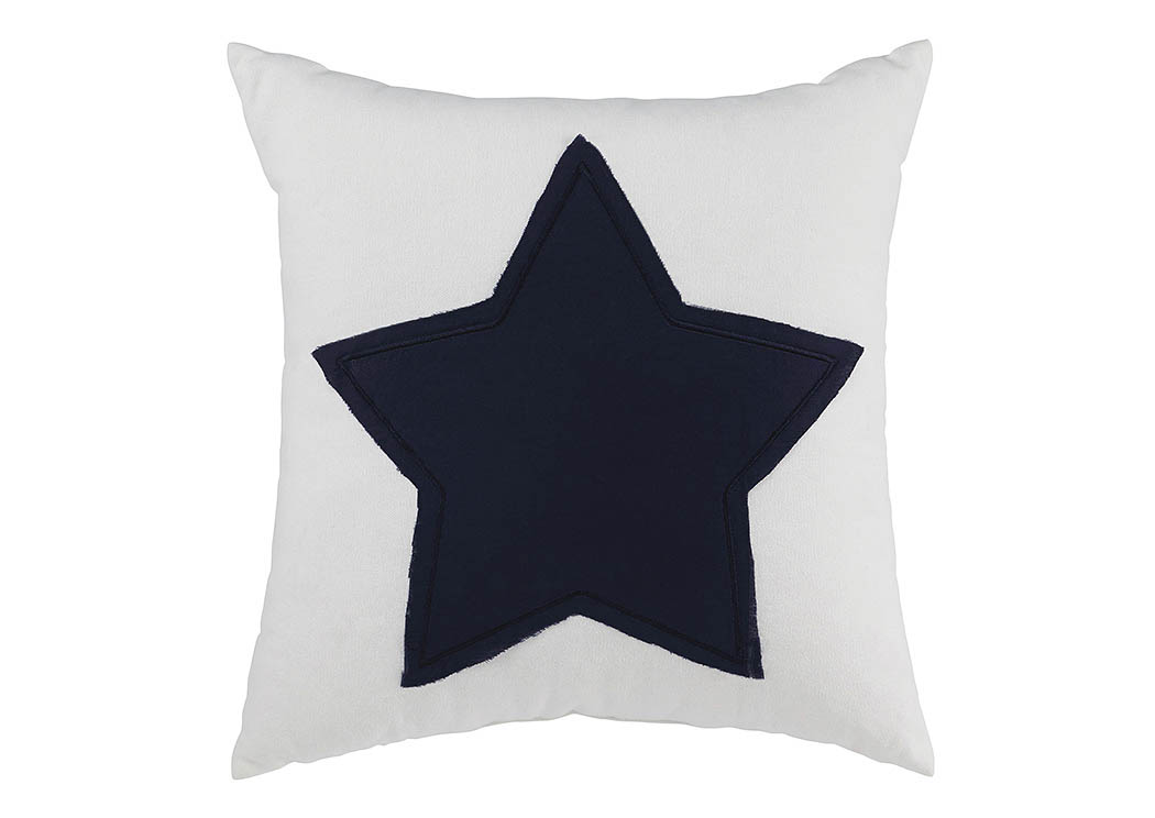 Gilead White/Navy Pillow,Signature Design By Ashley