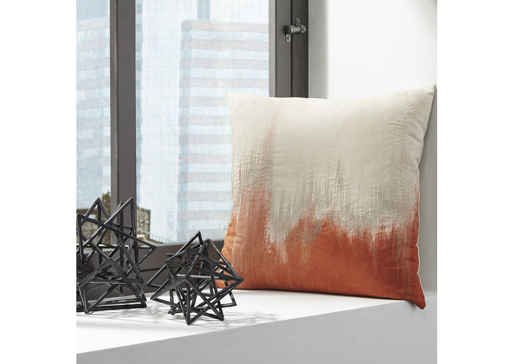 Madalene Orange Pillow (4/CS),Signature Design By Ashley