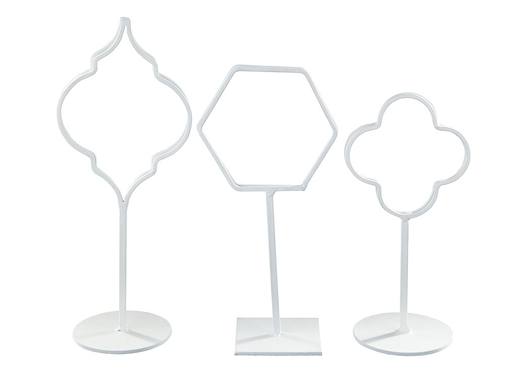 Acotas White Photo Holder (Set of 3) (2/CS),Signature Design By Ashley