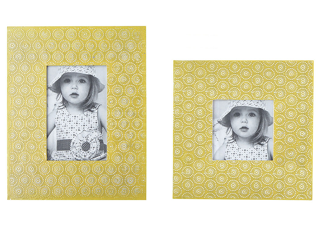 Bansi Yellow Photo Frame (Set of 2)
