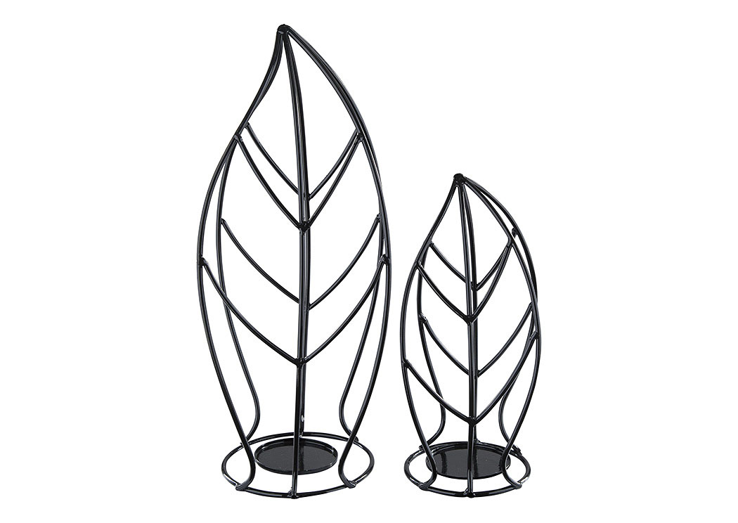 Cadelaria Black Candle Holder (Set of 2),Signature Design By Ashley