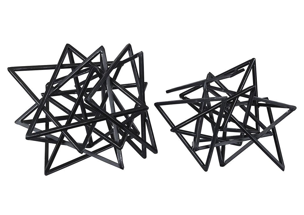 Superior Daitaro Black Sculpture (Set Of 2),Signature Design By Ashley