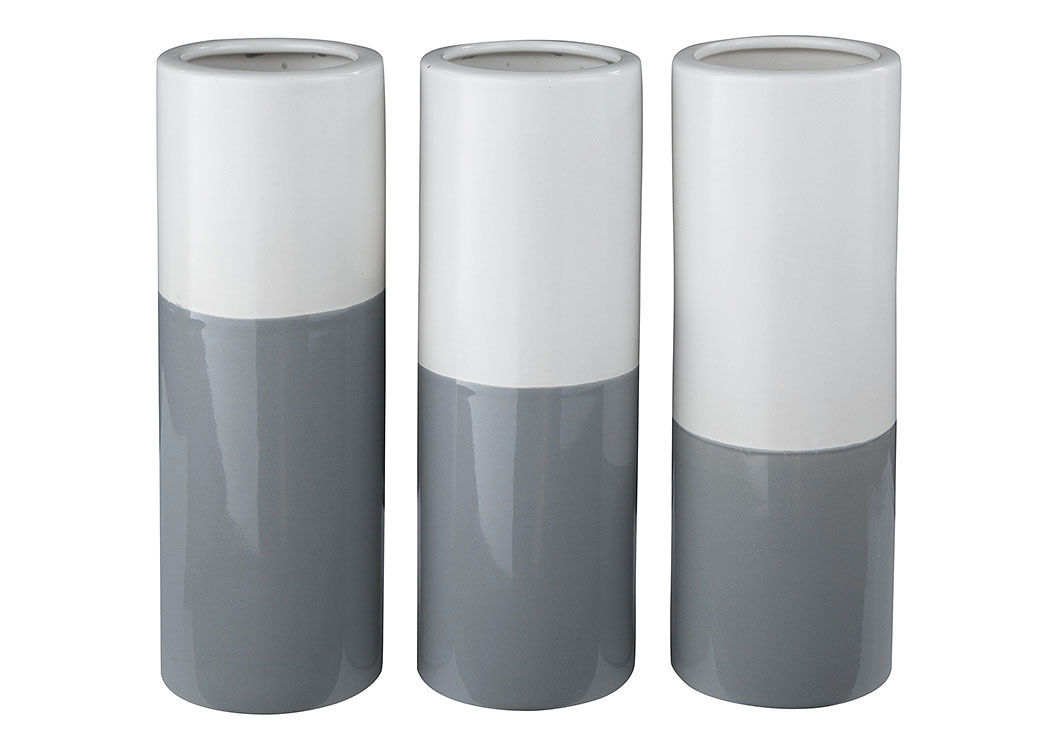 Dalal Gray/White Vase (Set of 3),Signature Design By Ashley