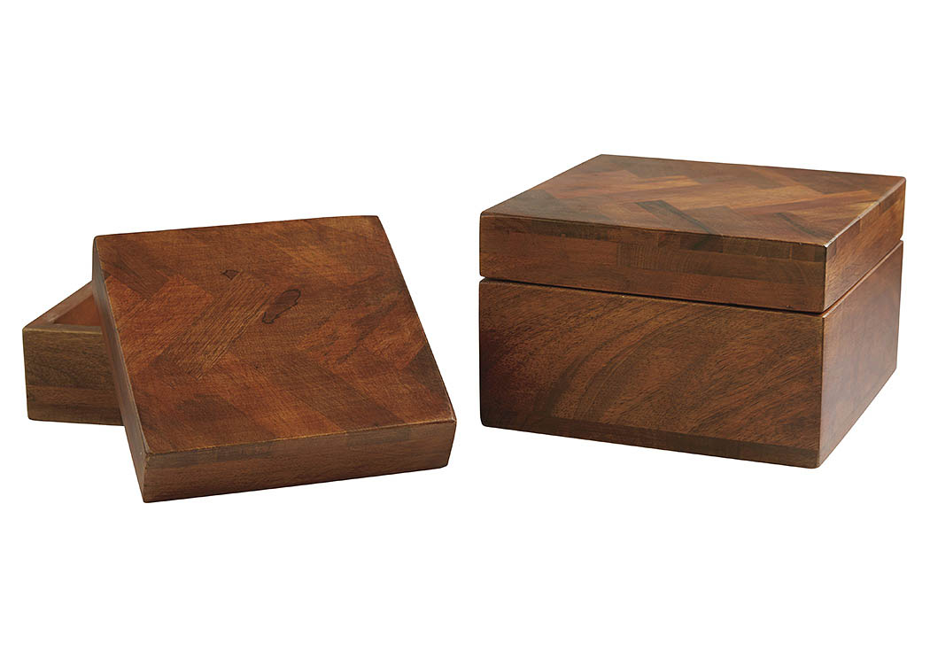 Kabecka Brown Box (Set of 2),ABF Signature Design by Ashley