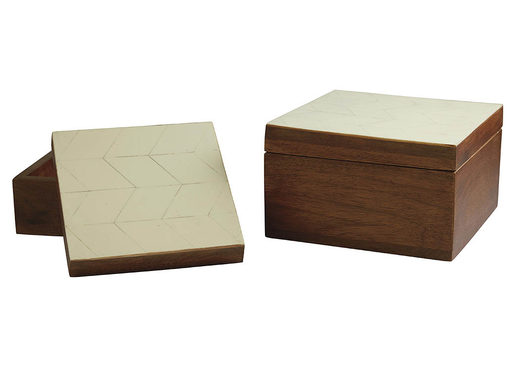 Kabecka Brown/Cream Box (Set of 2),ABF Signature Design by Ashley