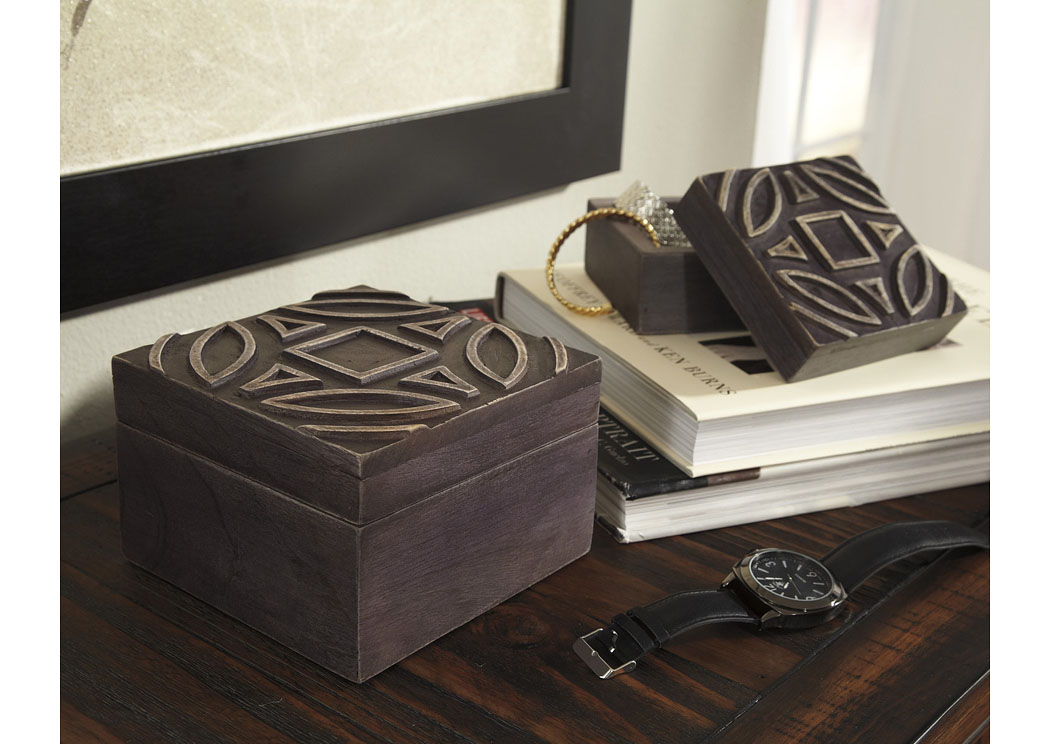 Marquise Antique Black Box (Set of 2) (2/CS),Signature Design By Ashley
