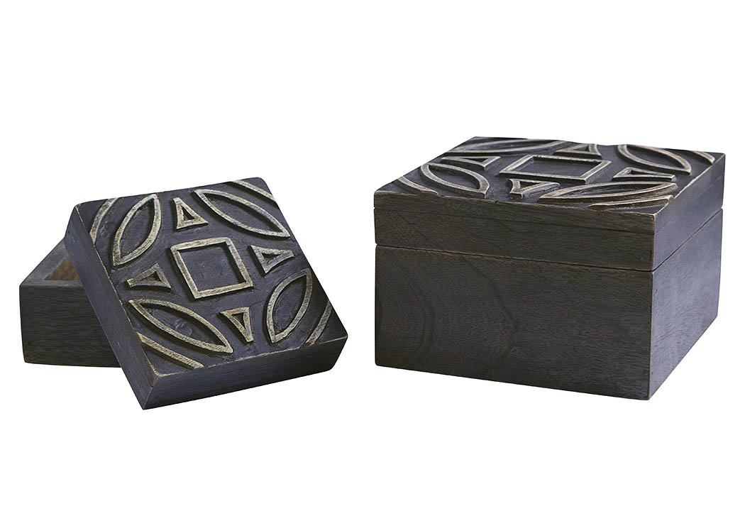 Marquise Antique Black Box (Set of 2),ABF Signature Design by Ashley