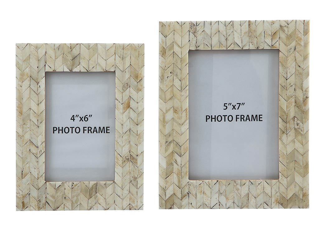 Kase Cream Photo Frame (Set of 2),Signature Design By Ashley
