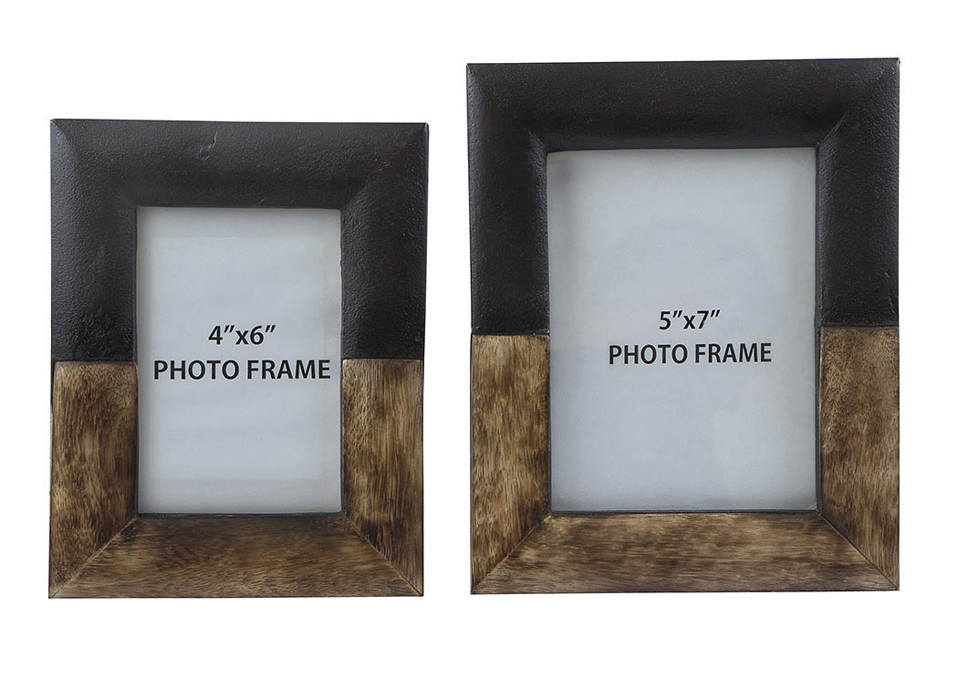 Michi Bronze Finish/Wood Photo Frame (Set of 2),Signature Design By Ashley