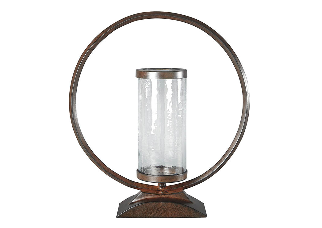 Obelia Bronze Finish Candle Holder,Signature Design By Ashley