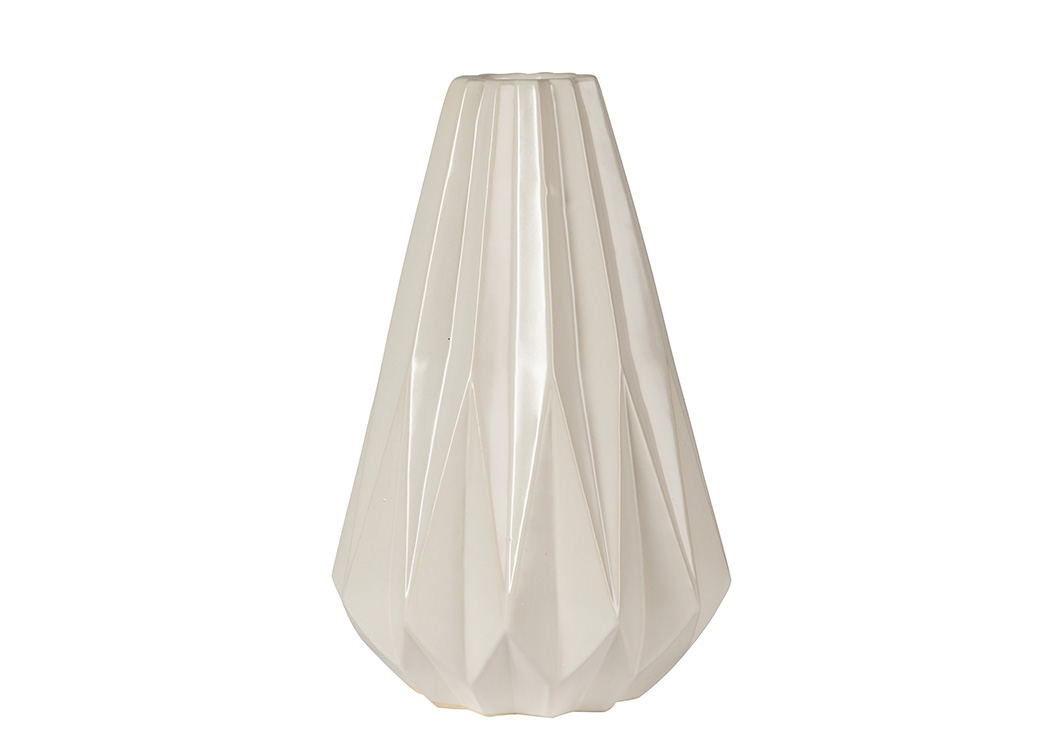 Diego White Vase,Signature Design By Ashley