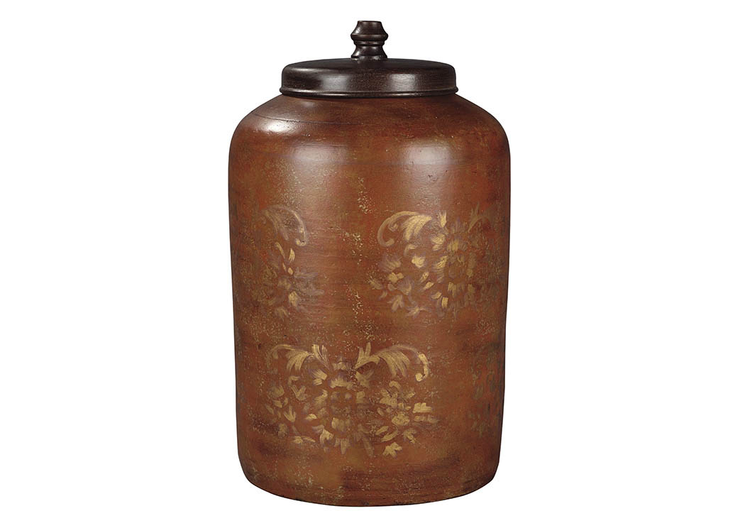 Odalis Orange/Tan Jar,Signature Design By Ashley