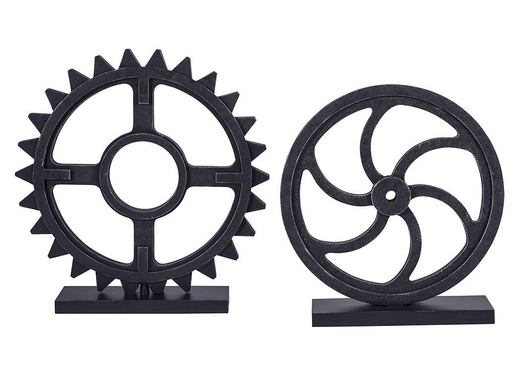 Dermot Antique Black Sculpture Set (Set of 2),Signature Design By Ashley