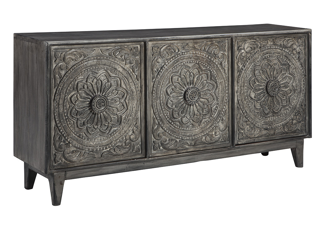 Fair Ridge Dark Brown Console,Signature Design By Ashley
