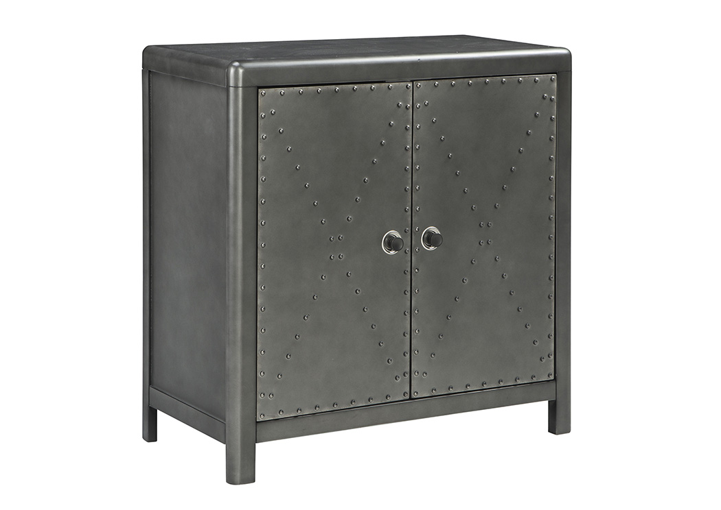 Rock Ridge Aged Steel Door Accent Cabinet,Signature Design By Ashley